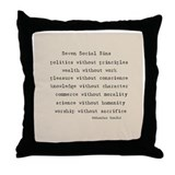 Seven Social Sins Throw Pillow