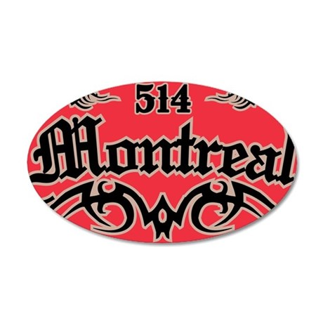Montreal 514 Magnet 35x21 Oval Wall Decal