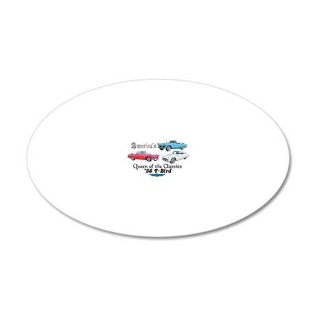 56 T Birds 20x12 Oval Wall Decal