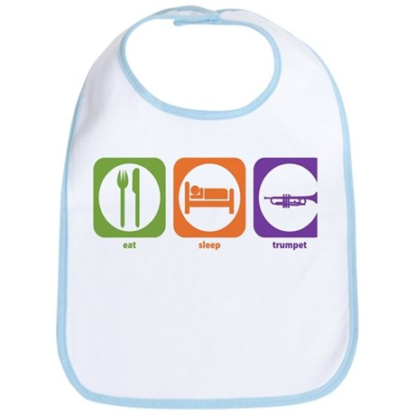 Eat Sleep Trumpet Bib