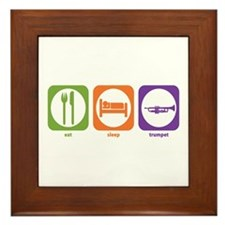 Eat Sleep Trumpet Framed Tile