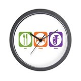 Eat Sleep Tuba Wall Clock