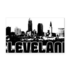 Cleveland Skyline Rectangle Car Magnet