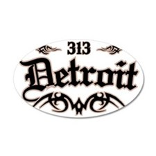 Detroit 313 Wall Decal