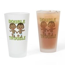 Double Trouble Drinking Glass
