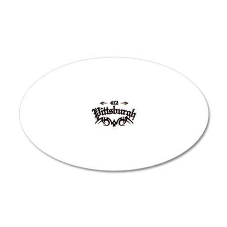 Pittsburgh 412 20x12 Oval Wall Decal