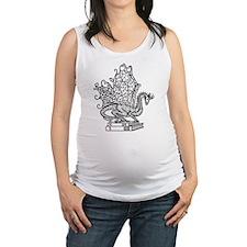 dragon-bks_black Maternity Tank Top