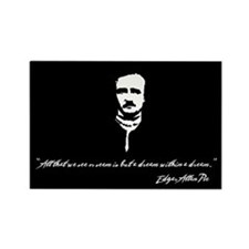 Edgar Allan Poe Rectangle Magnet (10 pack)