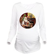 (R) Santa - Silky Te Long Sleeve Maternity T-Shirt