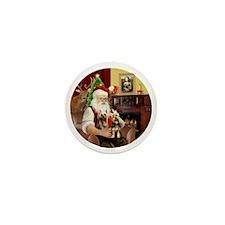 (R) Santa - Silky Terriers (TWO) Mini Button