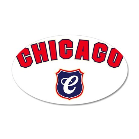 Chicago Throwback 35x21 Oval Wall Decal