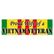 Vietnam Vet Wife Bumper Bumper Sticker