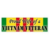 Vietnam Vet Wife Bumper Car Sticker