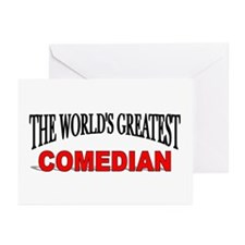 """The World's Greatest Comedian"" Greeting Cards (Pa"