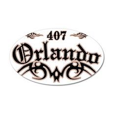 Orlando 407 35x21 Oval Wall Decal