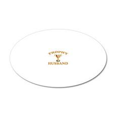 TROPHYHUSBAND 20x12 Oval Wall Decal