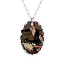 2-Deco Lady Dog Border Necklace