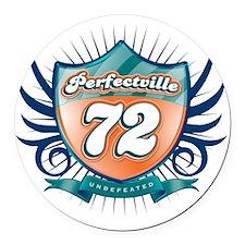 Perfecville72_Dark Round Car Magnet