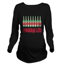 Hanukkah Lites flat Long Sleeve Maternity T-Shirt