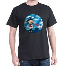 pirate girl badge 7 T-Shirt