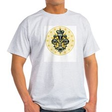 Saint Icon Fleur medallion Ash Grey T-Shirt