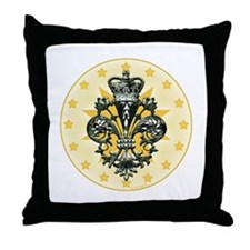 Saint Icon Fleur medallion Throw Pillow