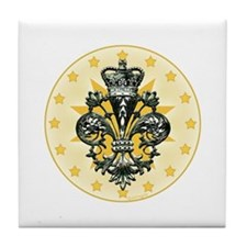 Saint Icon Fleur medallion Tile Coaster