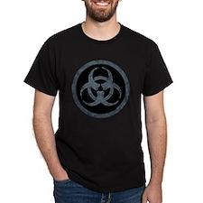 Gray Stone Biohazard Symbol T-Shirt