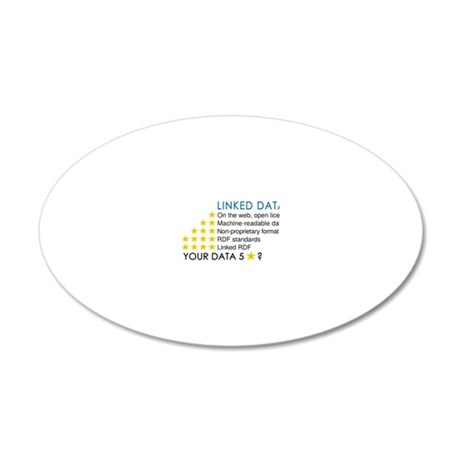 five_star_linked_data_800_fo 20x12 Oval Wall Decal