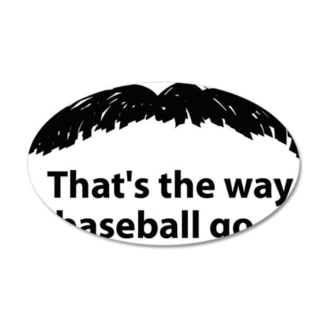 Stache Final copy 35x21 Oval Wall Decal