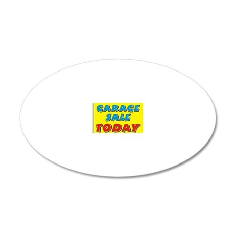 garage sale today 20x12 Oval Wall Decal