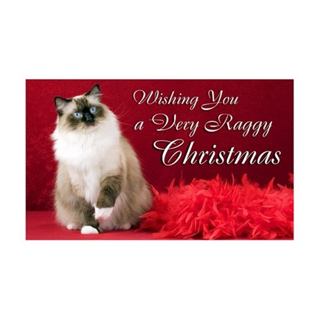 Maddie Christmas Card 35x21 Wall Decal