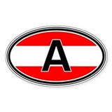 Austria Euro Oval Decal