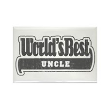 """World's Best Uncle"" Rectangle Magnet"