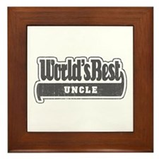 """World's Best Uncle"" Framed Tile"