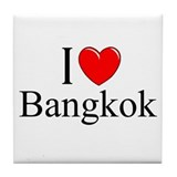 """I Love Bangkok"" Tile Coaster"