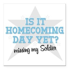 "homecoming3 Square Car Magnet 3"" x 3"""