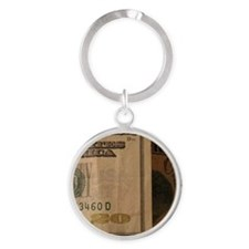 defaced currency Round Keychain