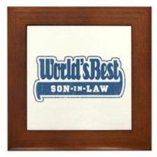 """World's Best Son-in-Law"" Framed Tile"