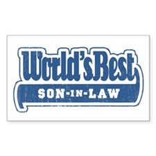 """World's Best Son-in-Law"" Rectangle Decal"