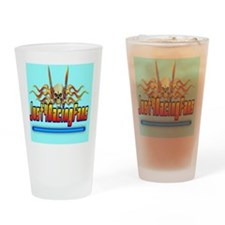 ThrowpillowFlameBlue Drinking Glass
