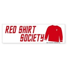 Red Shirt Society Bumper Bumper Sticker