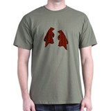 BROWN DANCING BEARS 2 T-Shirt