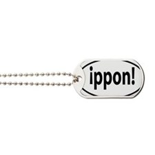 ippon sticker Dog Tags