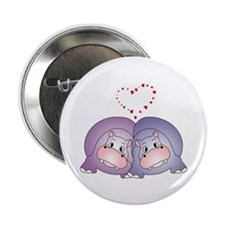 """Hippo Love 2.25"""" Button (10 pack)"""