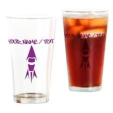 Purple Rocket Drinking Glass