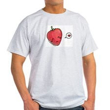 kawaii strawberry Ash Grey T-Shirt