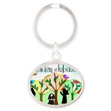 Golden Jubilee TREES SUN MOUNTAINS Oval Keychain