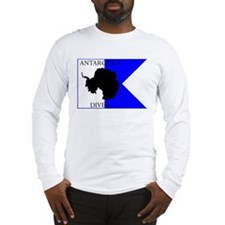 Antarctica Diver Alpha Flag Long Sleeve T-Shirt