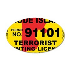 terrorist-hunting-license-XL Wall Decal